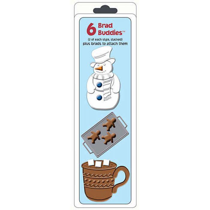 """Набор брадс """"снеговик"""" для скрапбукинга"""
