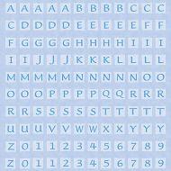 Бумага Blue Alphabet