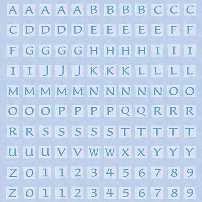 Бумага Blue Alphabet для скрапбукинга