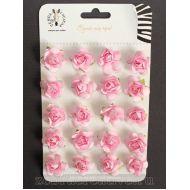 Набор розовых розочек 15 мм