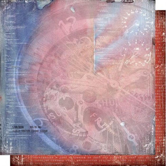 Бумага 004, коллекция Автопарк для скрапбукинга