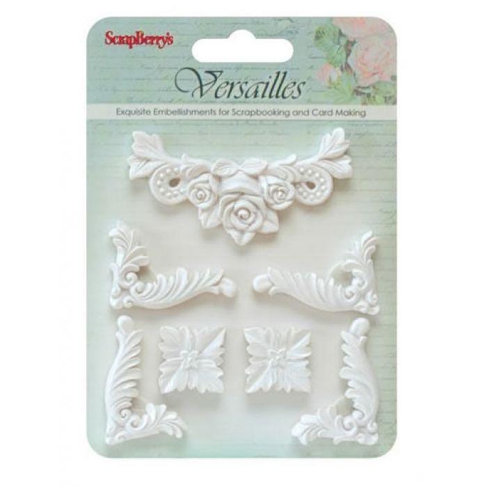Набор объемных украшений Версаль 8 для скрапбукинга