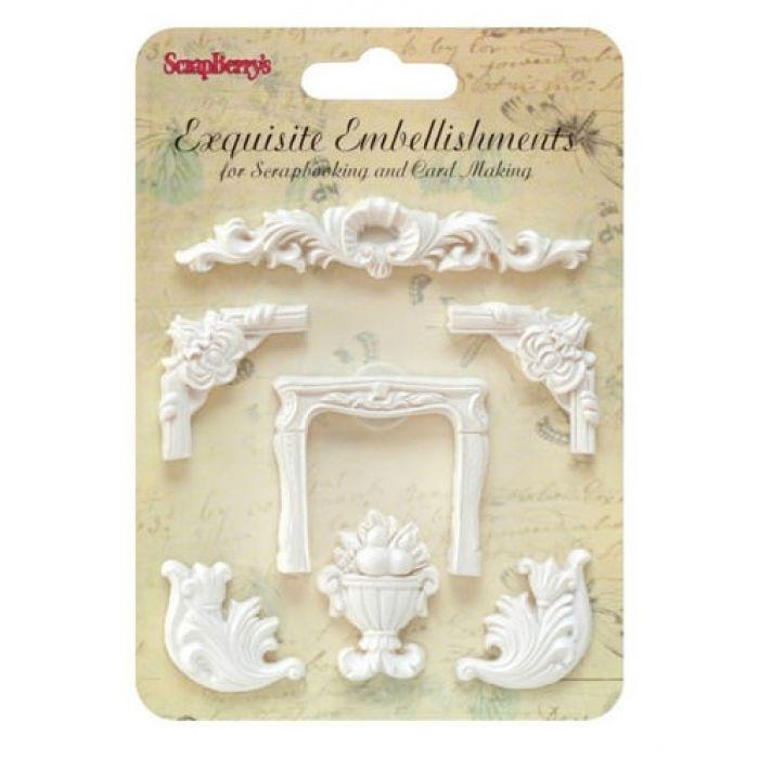 Набор полимерных фигурок 5 Лепные украшения для скрапбукинга