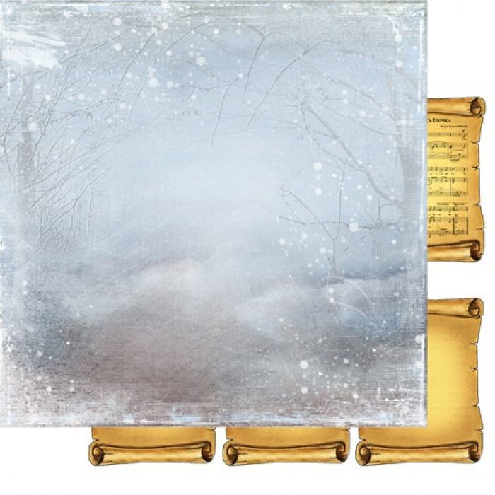 Бумага 006, коллекция Зимняя тайна для скрапбукинга
