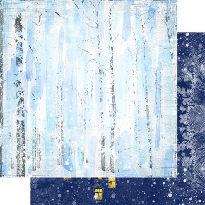 Бумага 003, коллекция Зимняя тайна для скрапбукинга