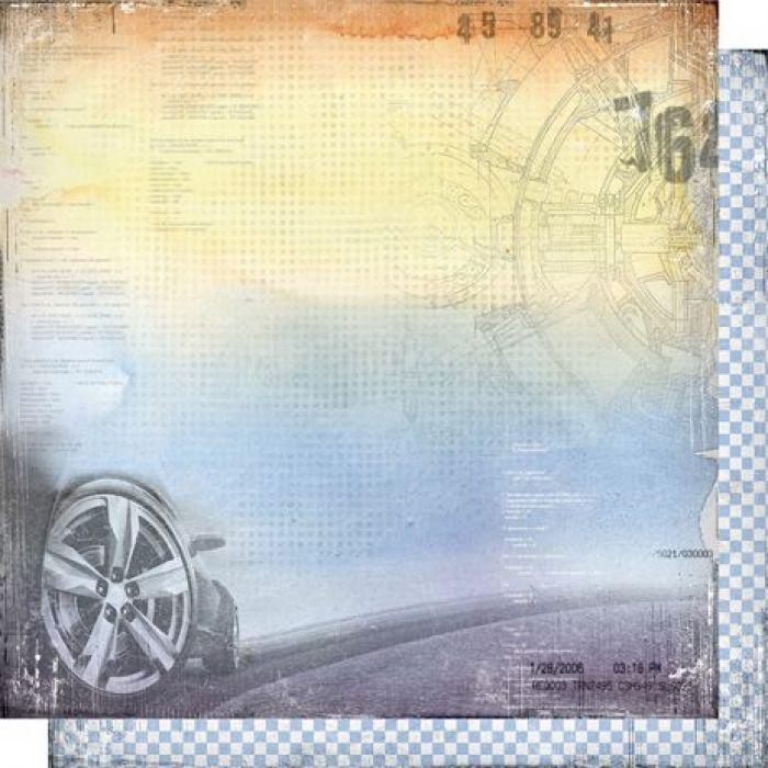 Бумага 002, коллекция Автопарк для скрапбукинга