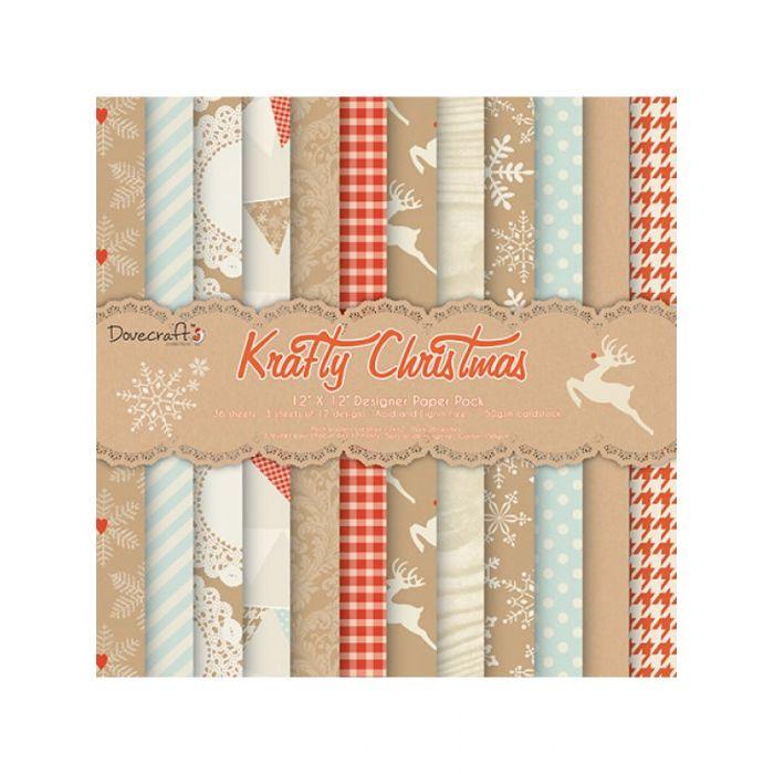 Набор бумаги Krafty Christmas, 30 х 30 см для скрапбукинга