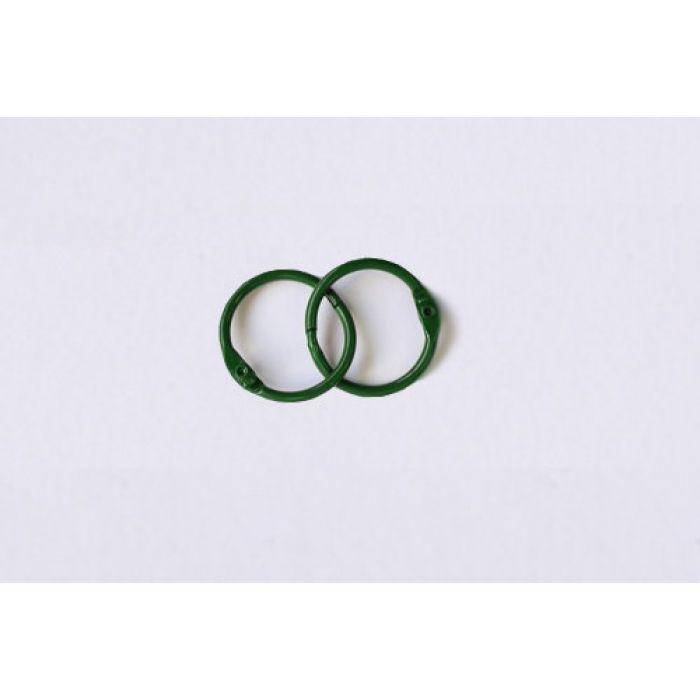 Кольца для альбомов, 2 шт зеленые 20 мм для скрапбукинга