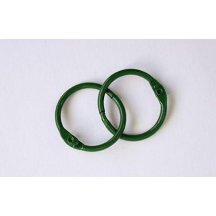 Кольца для альбомов, 2 шт зеленые 30 мм для скрапбукинга