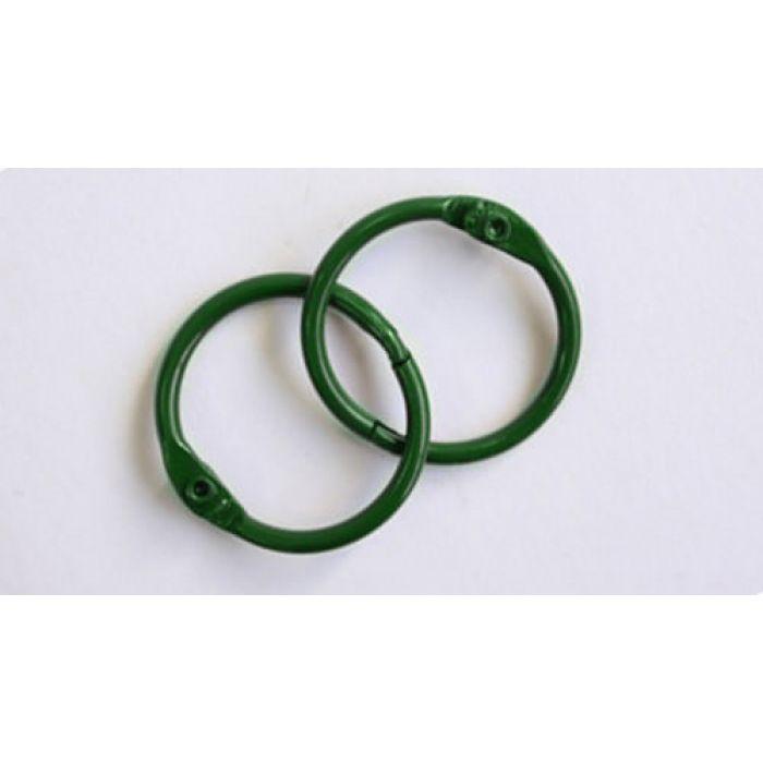 Кольца для альбомов, 2 шт зеленые 35 мм для скрапбукинга