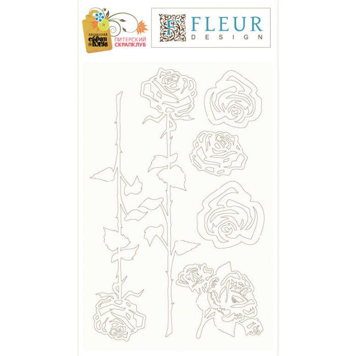 Набор чипборда Цветы для скрапбукинга