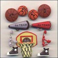 Набор пуговиц Баскетбол