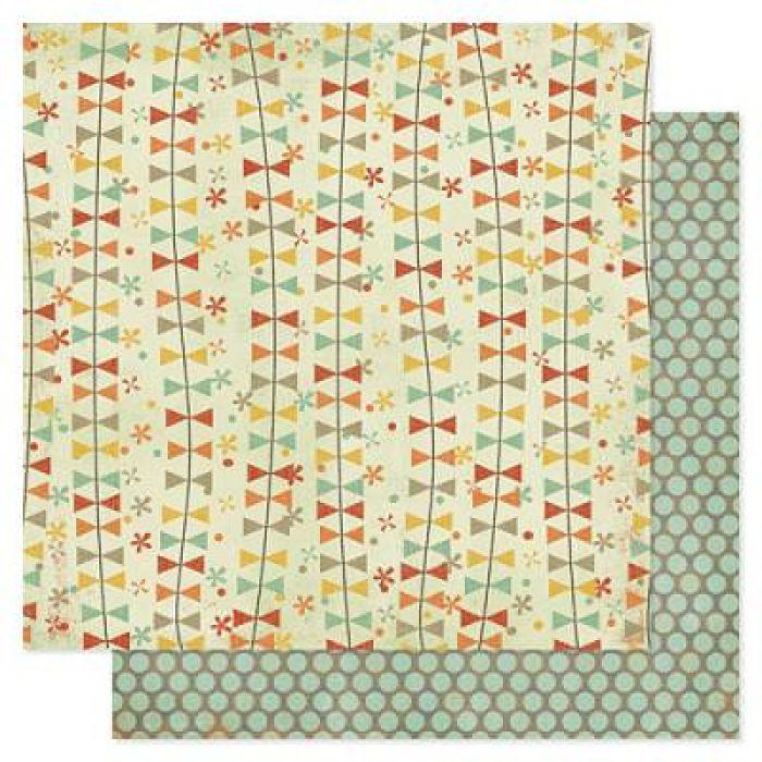 Бумага, коллекция Prairie Hill, Kite Strings для скрапбукинга