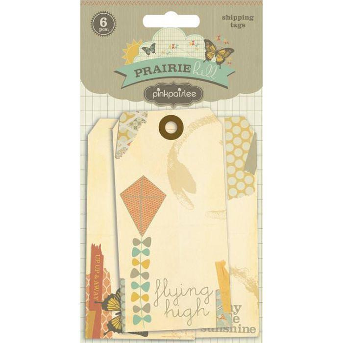 """Набор вырубок """"Shipping Tags"""", коллекция Prairie Hill для скрапбукинга"""