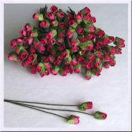 Роза с закрытым бутоном, цвет малиновый