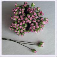Роза с закрытым бутоном, цвет нежно-розовый