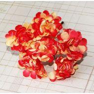 Хризантема с глиттером, цвет - желто-оранжевый