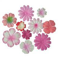 Набор цветочков из шелковичной бумаги Оттенки розового