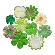 Набор цветочков из шелковичной бумаги Естественные цвета