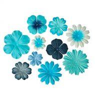 Набор цветочков из шелковичной бумаги Светло голубые