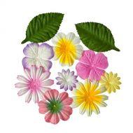 Набор цветочков с листочками ЗАКАТ