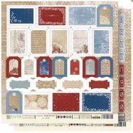 Бумага теги из коллекции крафтовая зима