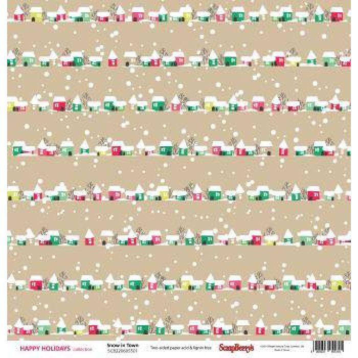 Бумага Зимний Городок, коллекция Зимние Каникулы для скрапбукинга