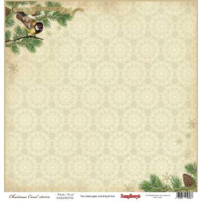 Бумага зимний лес, коллекция ночь перед Рождеством для скрапбукинга