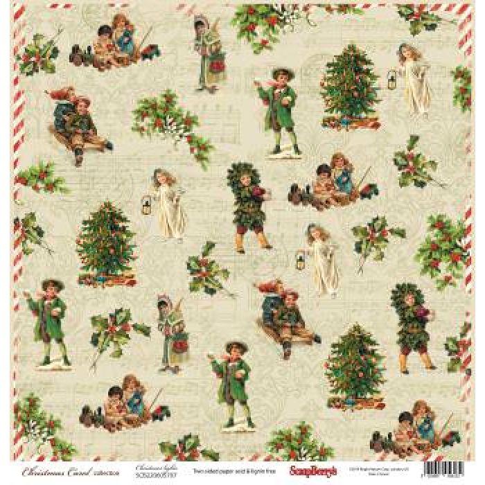 Бумага Рождество, коллекция ночь перед Рождеством для скрапбукинга