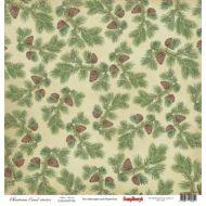Бумага сосновый бор, коллекция Ночь перед Рождеством