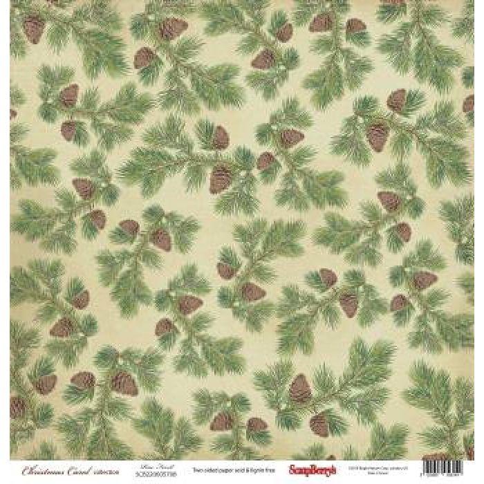 Бумага сосновый бор, коллекция Ночь перед Рождеством для скрапбукинга
