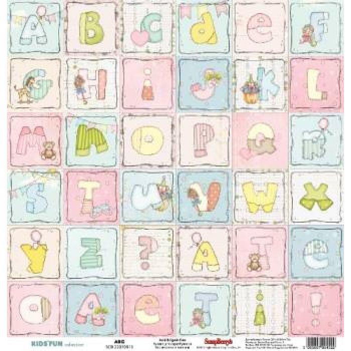 Бумага  Алфавит, коллекция Забава для скрапбукинга