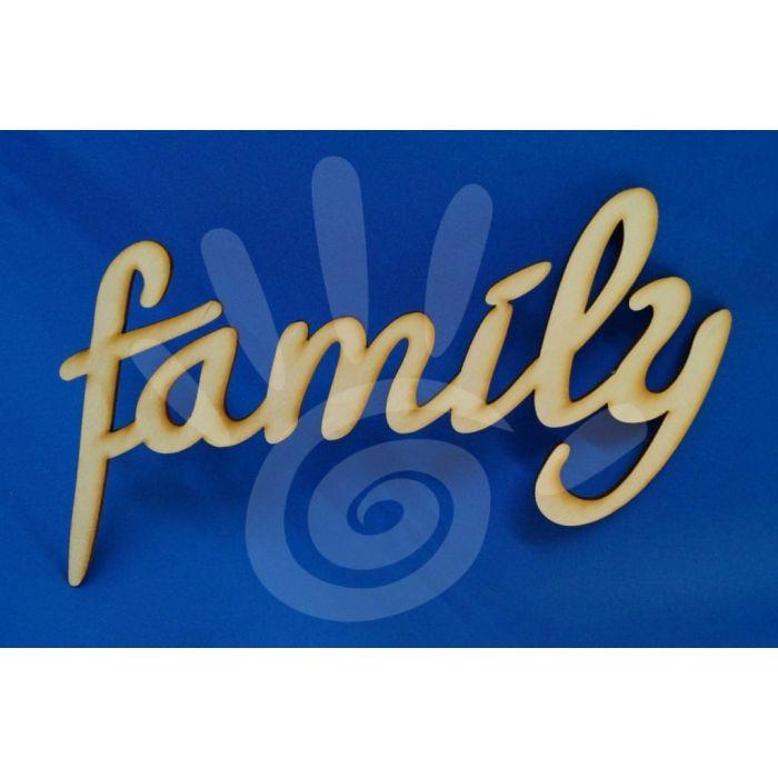 Слово family  для скрапбукинга