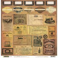 Бумага Теги 2, коллекция Стимпанк