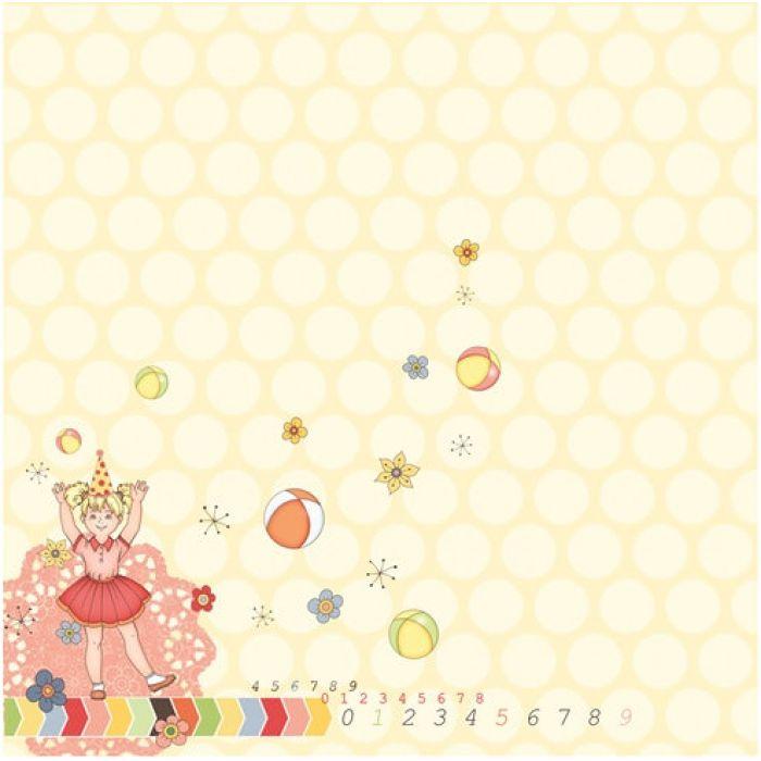 Бумага Праздник Детства, коллекция С Днем Рождения! для скрапбукинга