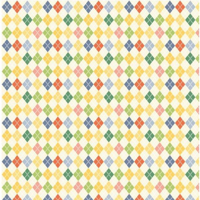 Бумага Веселая Эстафета, коллекция С Днем Рождения! для скрапбукинга