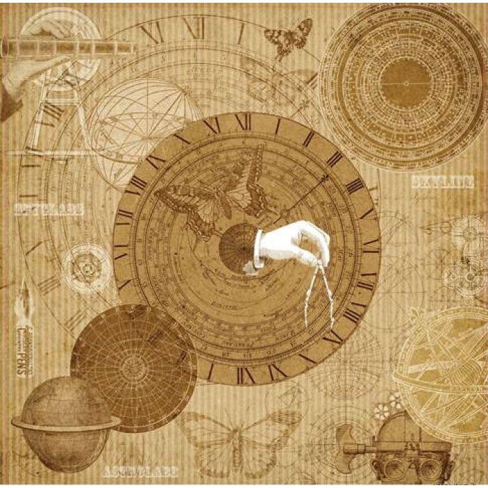 Бумага наутилус, коллекция механические иллюзии для скрапбукинга