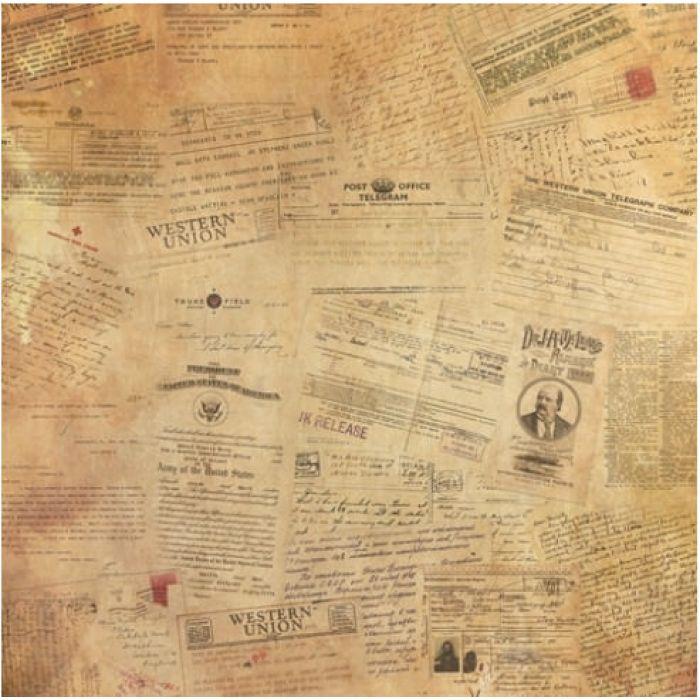 Бумага Бортовой Журнал, коллекция Точка Невозврата для скрапбукинга