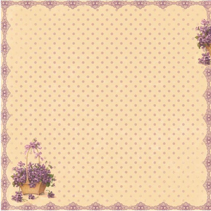 Бумага Цветочная поляна, коллекция Весенний Праздник для скрапбукинга