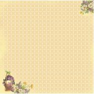 Бумага Корзина с цветами, коллекция Весенний Праздник