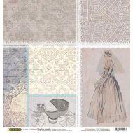 Бумага Карета, коллекция Свадебное кружево