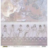 Бумага Журнал мод, коллекция Свадебное кружево