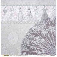 Бумага Веер, коллекция Свадебное кружево