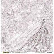 Бумага Невеста, коллекция Свадебное кружево
