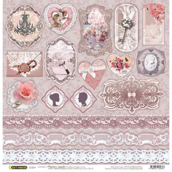 Бумага Декор, коллекция Свадебное кружево для скрапбукинга