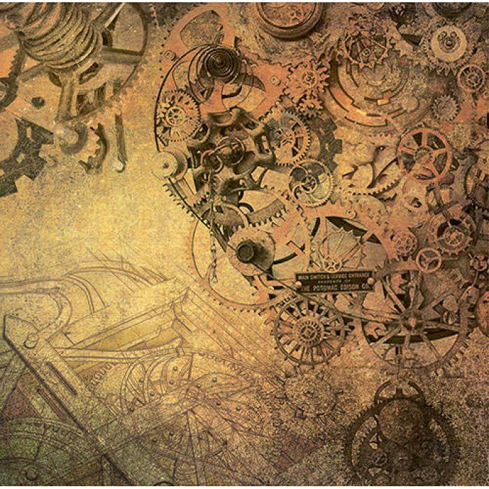 Бумага Вечный двигатель, коллекция Стимпанк для скрапбукинга