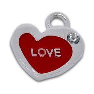 Подвеска сердце с эмалью