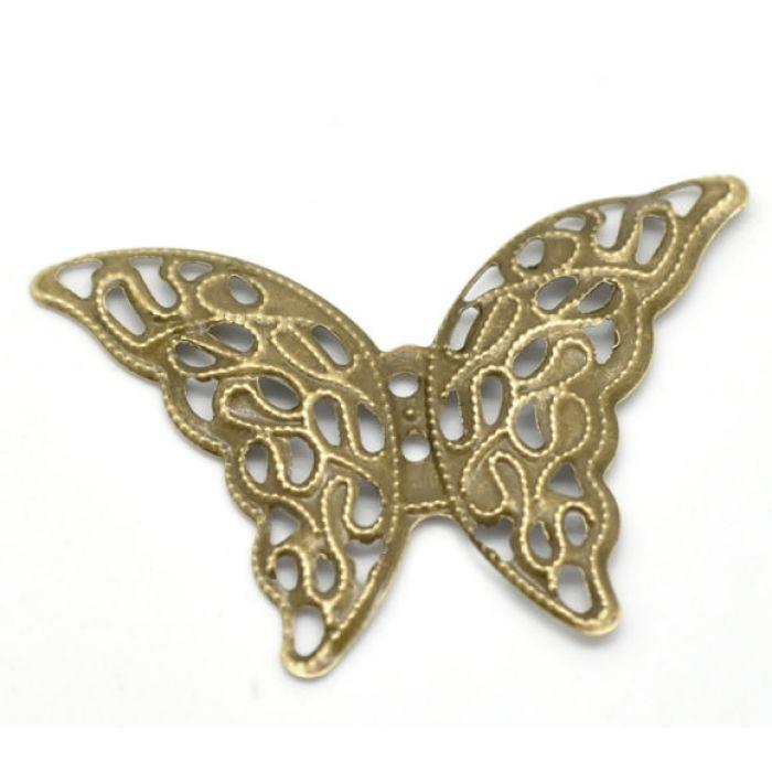 Металлическая бабочка для скрапбукинга