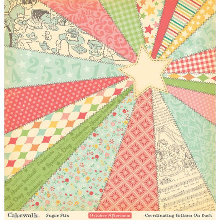 Бумага Sugar Stix, коллекция Cakewalk для скрапбукинга