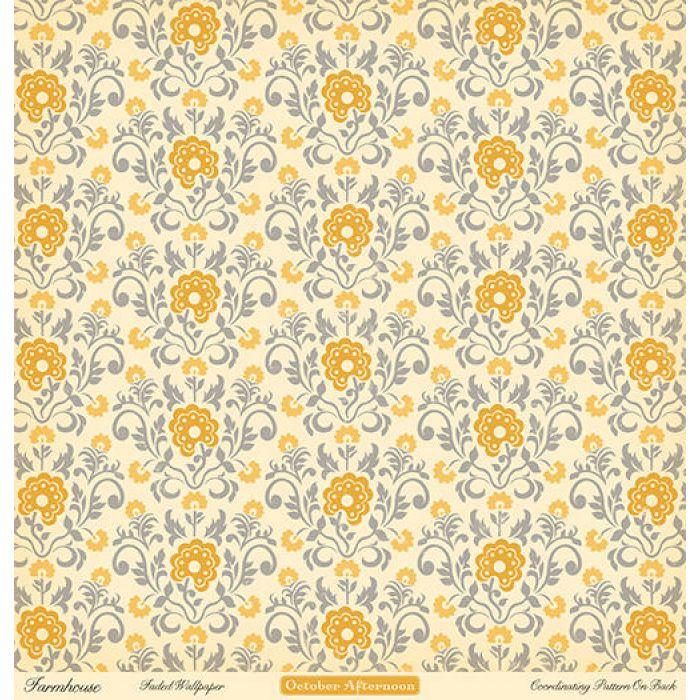 Бумага Faded Wallpaper, коллекция Farmhouse для скрапбукинга